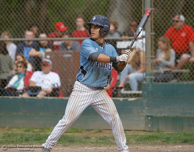 Pleasant Valley's Ryan Busby during a baseball game between Pleasant Valley and Chico High School Tuesday April 12, 2016 at Hooker Oak Park in Chico, Calif. (Emily Bertolino -- Enterprise-Record)