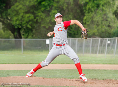 Chico High's pitcher Dalton Smith during a baseball game between Pleasant Valley and Chico High School Tuesday April 12, 2016 at Hooker Oak Park in Chico, Calif. (Emily Bertolino -- Enterprise-Record)