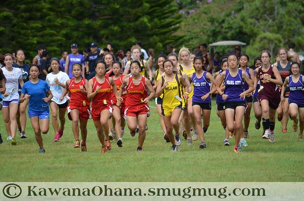 Mililani Invitational VarGirls Cross Country 2012