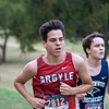 """The Argyle Eagles Cross Country team Competes in the Metroplex Challenge """"The Buff"""" at Fossil Creek Park in Haltom City, Texas, on September 19, 2019. (Andrew Fritz 