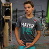 CrossFit champion Zach Mayer, 15, talks about his training to competing on Thursday at his gym in Lemominster. SENTINEL & ENTERPRISE/JOHN LOVE