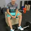 CrossFit champion Zach Mayer, 15, at his gym in Lemominster on Thursday. SENTINEL & ENTERPRISE/JOHN LOVE