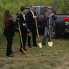 Pastor Todd, Murray Hines, Shelly Elam and James Cottle at groundbreaking ceremony.