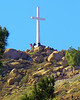 Mt. Rubidoux, Riverside - the location of the oldest open-air Easter Sunrise Service in the U.S.  Some day I'll get the nerve to walk my diseased heart up there for some close-ups.