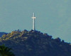 Taken from a not-so-nearby cemetery, this cross sits atop a rather significant hill in the Inland Empire near Riverside