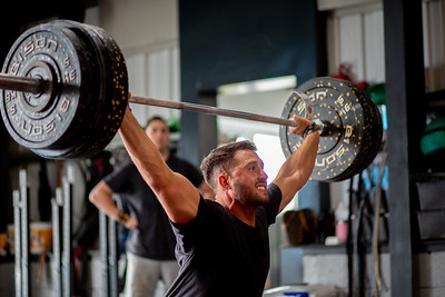 Bill Carvey weight lifting