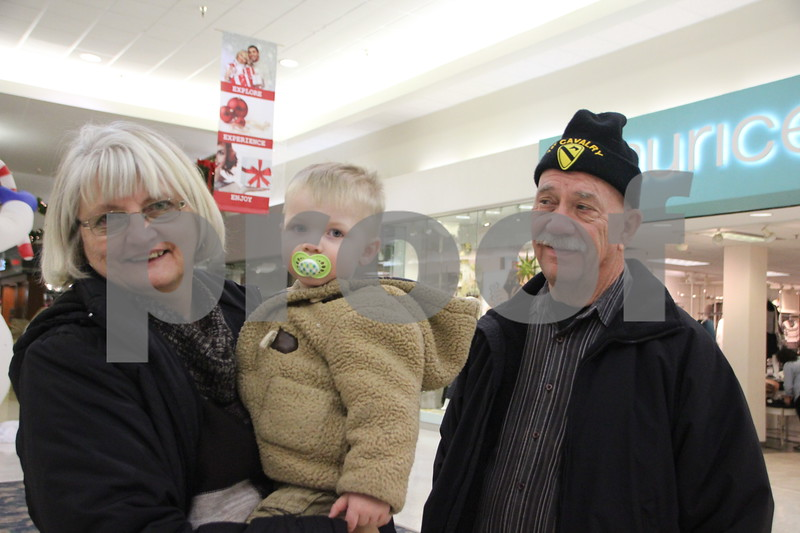 With only 2 weeks and 6 days left before Christmas, Saturday, December 12, 2015 found shoppers at Crossroads Mall in Fort Dodge shopping for Christmas gifts. Seen here is(left to right): Carol Jensen, Phin Jensen, and John Jensen.