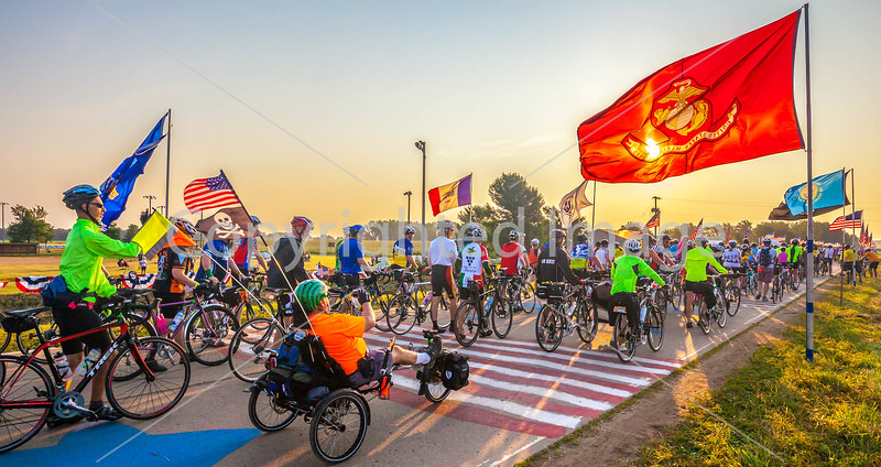 Ragbrai 2014 - Leaving Rock Valley, Iowa, in early morning - D1-C2-0560 - 72 ppi
