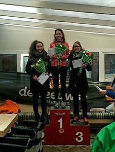 1. Anjolie Engels, 2.Emma van Mourik, 3. Jolanda 't Jong