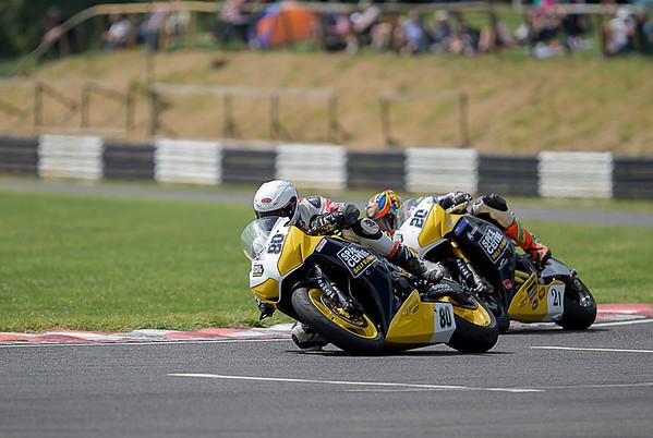Mark Dangerfield - Castle Combe  Race 6 & 16 Powerbike (Honda Fireblade 1000 - Space Centre Racing) with Dan Cooper
