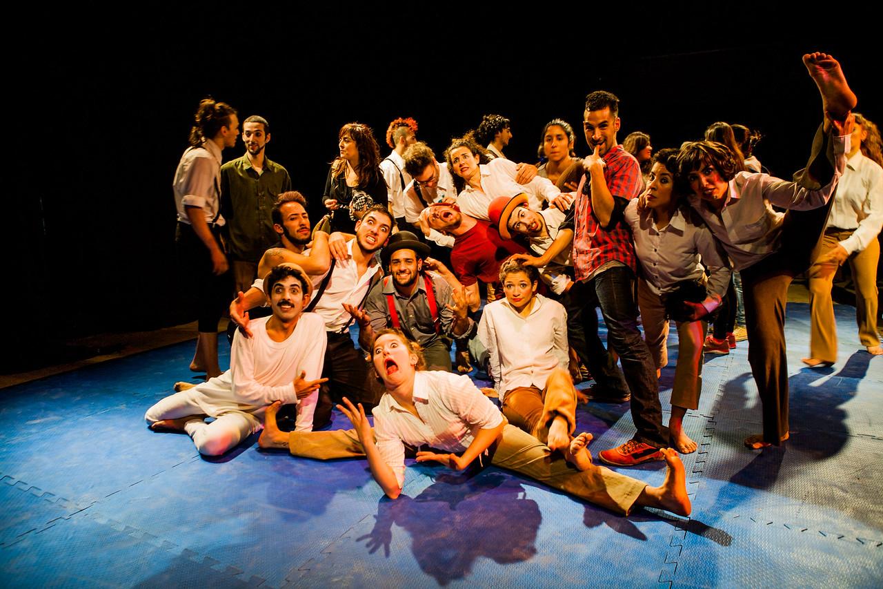 Students of EMAU (Circus school), Rosario, Argentina
