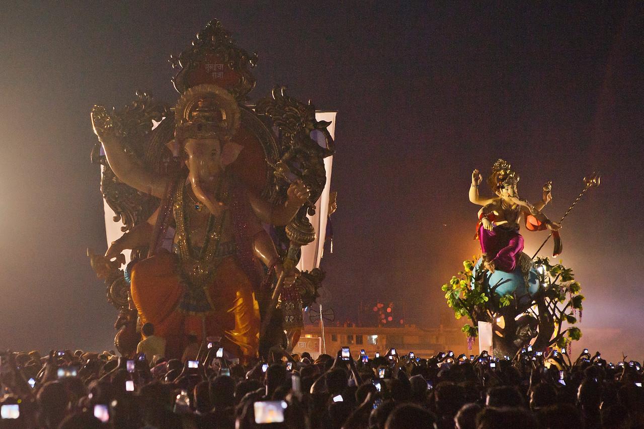 Every Ganesh idol has a story to tell, at Girgaum chowpatty in Mumbai, India