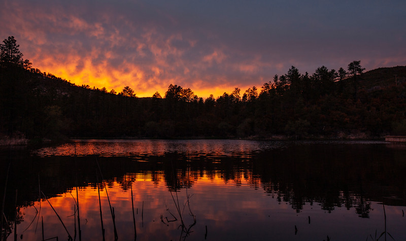 Sunset on Horsethief Lake