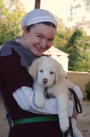 Tilda & loaner puppy