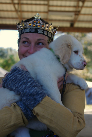 Onora and the world's softest puppy