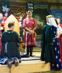 Duchess Lethrenn presents Dredda's Laurel coat