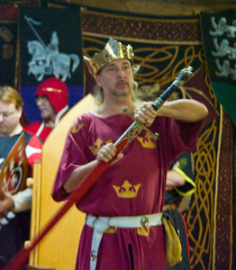 King Loric shows off the renovated Sword of state