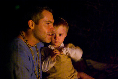 Uric and Jack by Firelight
