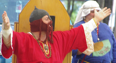 Happy King with Dwarven Battle Bonnet