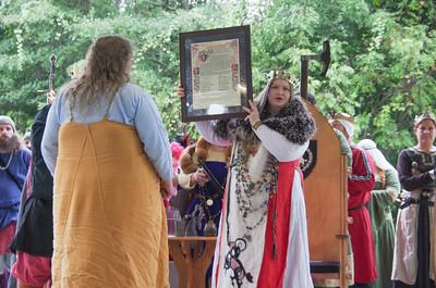 Eowyn awarded Kingdom Art Champion scroll