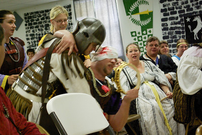 Sir Ulric and the guards were set upon and the queen stolen away.  Leading Caspar to give up the crown to go find her.