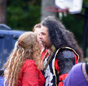 Sir Baras Bayan and Lady Alessandra di Fiore share a moment