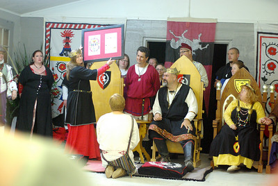 Presentation of knight's scroll for Caillin