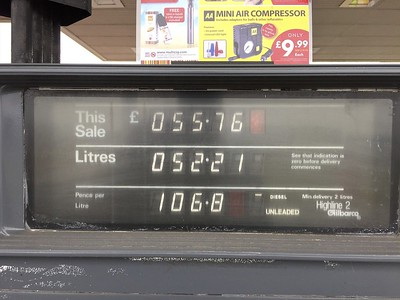Fuel is expensive in the U.K.