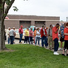 A crowd waits in line to purchase a Hi-Boy sandwich Friday at Cruise Night in downtown Effingham. Dawn Schabbing photo