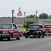 A line of vehicles along the cruise route downtown Effingham Friday. Kaitlin Cordes photo
