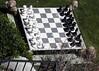 Life size chess pieces.