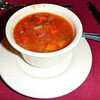 Soup starts the meal on American Safari Cruise