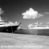 Le Levant  with princess ship in Barbados. 1999