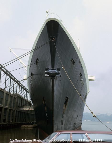 The big bow docked at NY.
