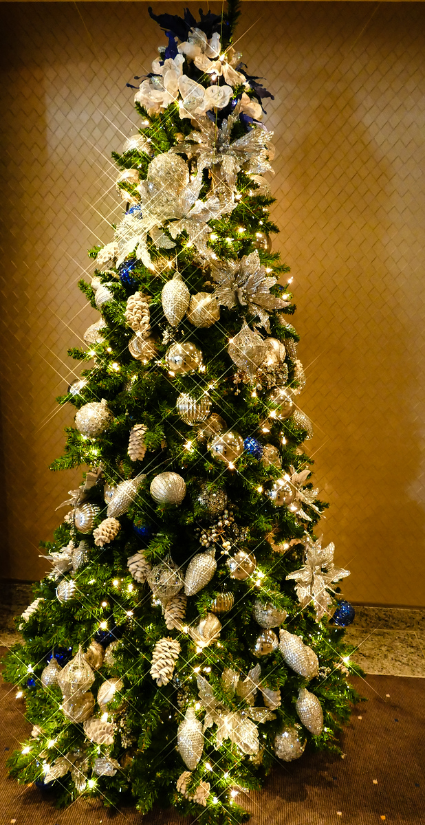You'll find sparkling trees a plenty on a luxury cruise ship Christmas.