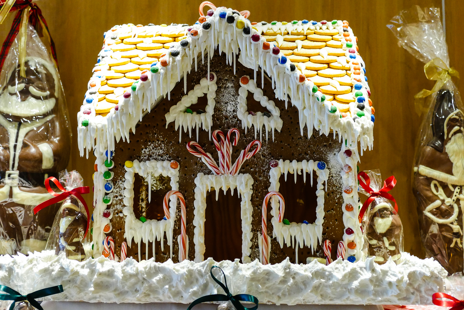 You'll find decorated gingerbread houses on a Seabourn Quest luxury cruise ship Christmas.