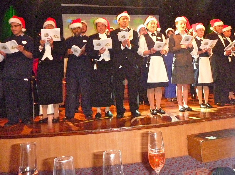Singing Christmas carols in Silver Cloud