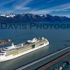 Radiance of the Seas docked in Seward, Alaska