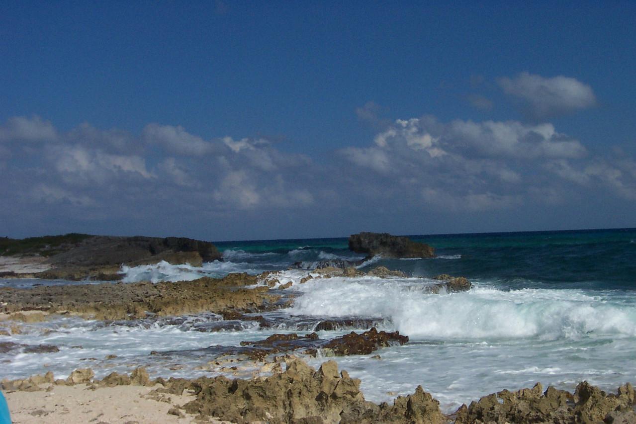 When Cozumel is hit by a hurricane, it makes landfall on the east side of the island.<br /> [Cozumel, Mexico]