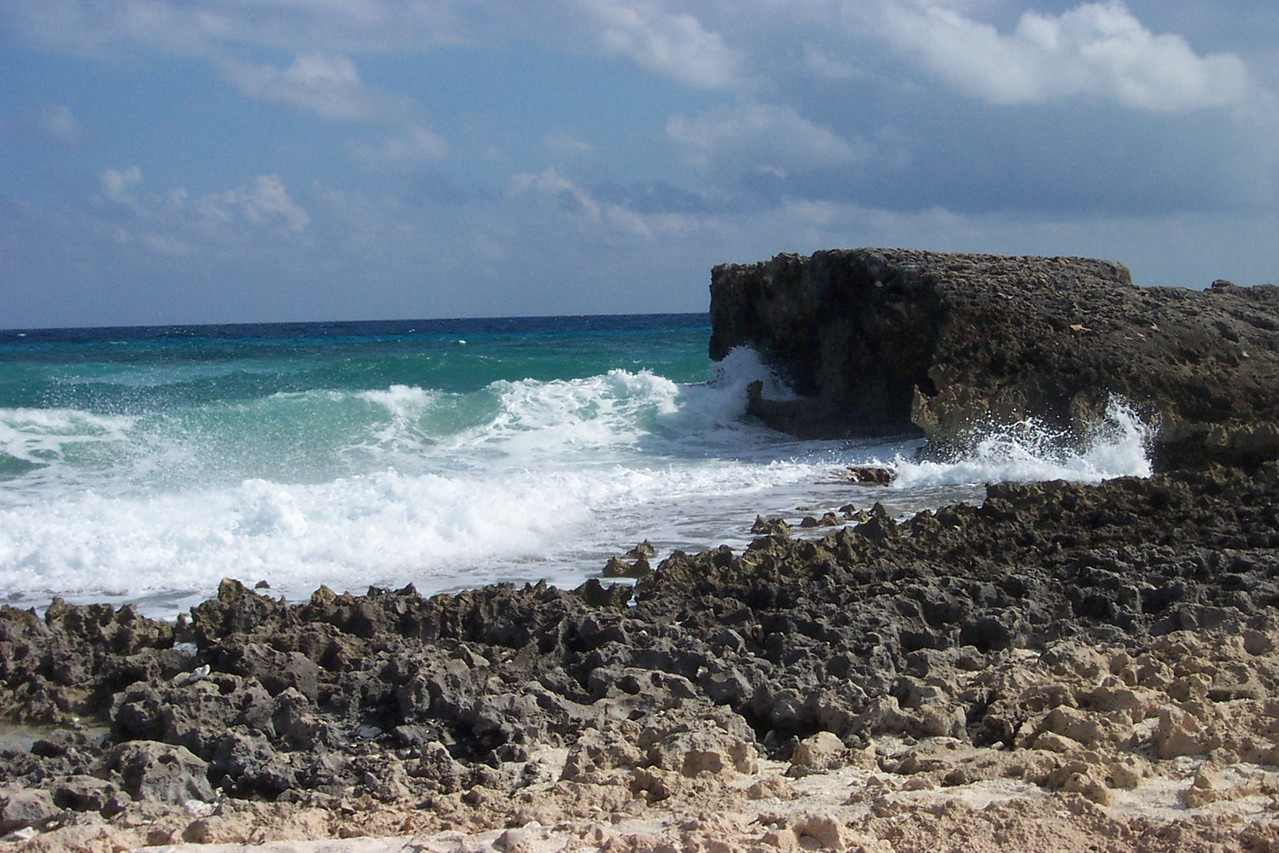 The windward (east) side of the island is rugged and strikingly beautiful.<br /> [Cozumel, Mexico]