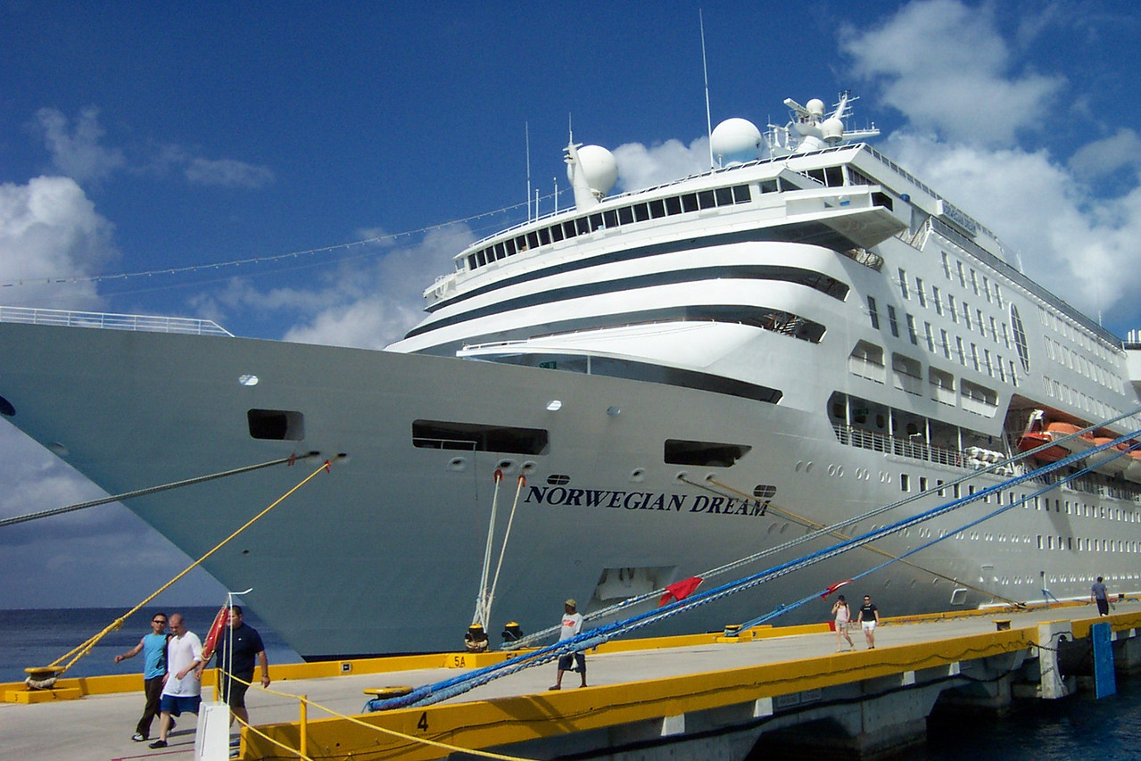 Here's our ship, the Norwegian Dream.<br /> [Western Caribbean cruise]