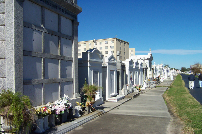 The only opportunity we had to get off the tour bus was at this cemetery.<br /> [New Orleans]