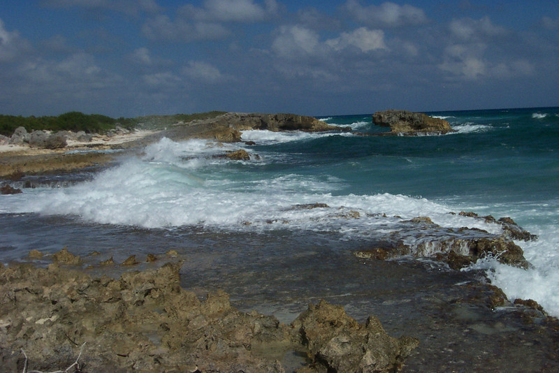 On the upside, the lack of sand means there's hardly any development here.  The east side of the island will probably always remain wild and rugged.<br /> [Cozumel, Mexico]