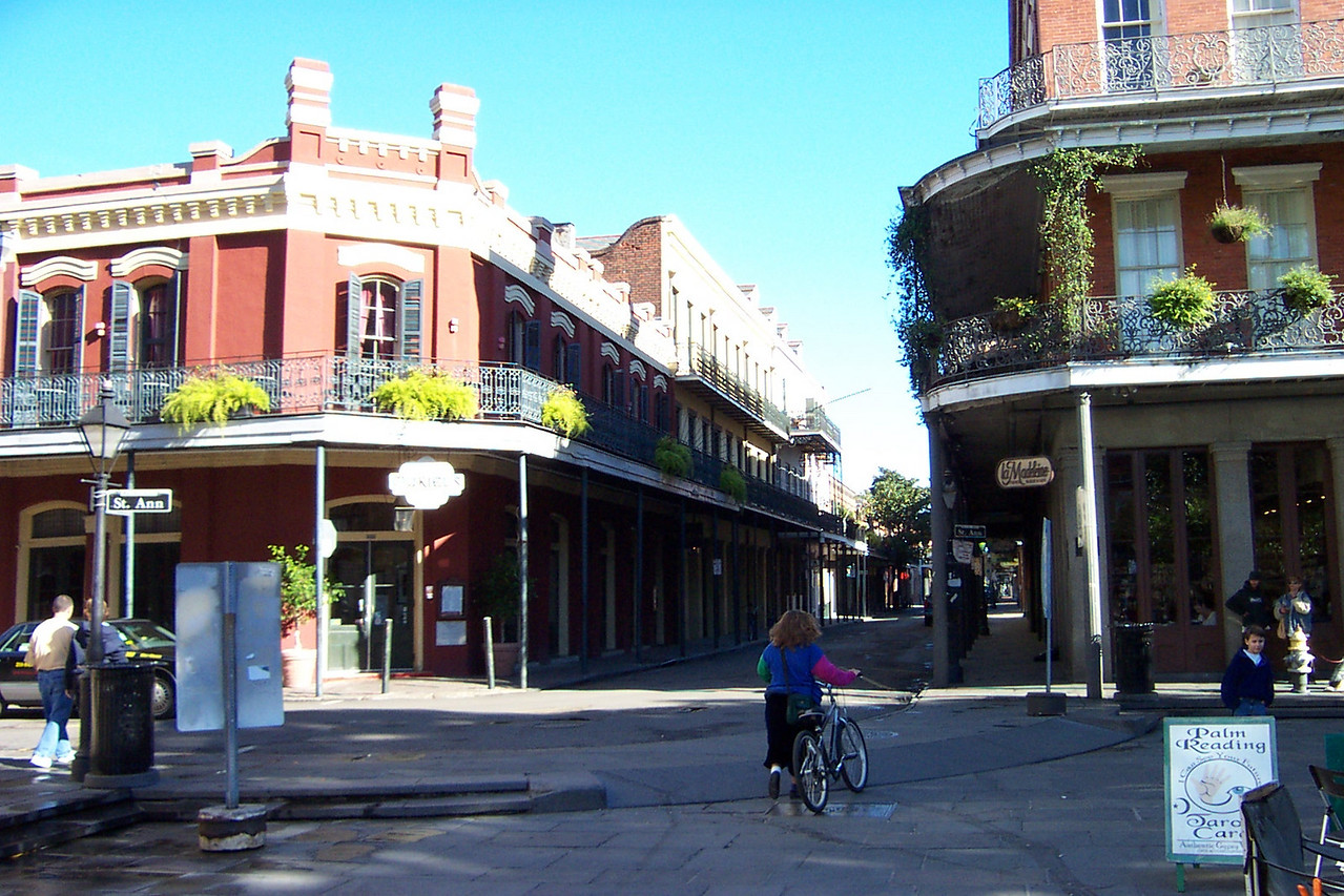 The streets of the French Quarter.<br /> [New Orleans]