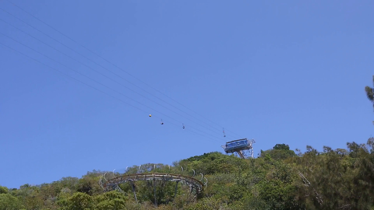 Tawny and  Josh on the Dragon Zip Line
