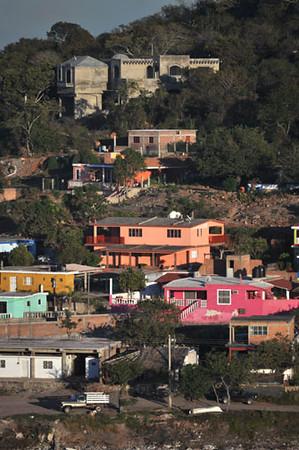 Hillside Houses in Mazatlan