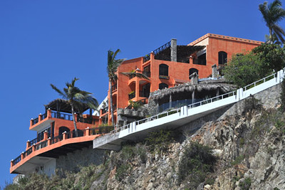 Cliff-top Hotel, Mazatlan