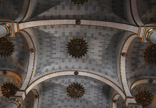 Ceiling of church