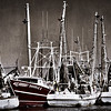 shrimpboats B&W