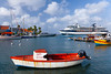 The marina and port of Oranjestad, Aruba with the Celebrity cruise ship Millennium.